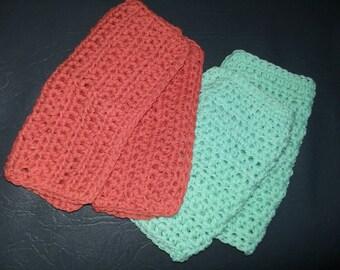 A set of four crochet  dishcloths