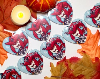 LoZ BotW Sidon Inspired Heart Buttons