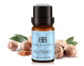 Nutmeg Essential Oil 100% Pure Natural Fragrance Aromatherapy - 1ml Tester Vial, 10ml, 30ml, 50ml, 100ml Bottle