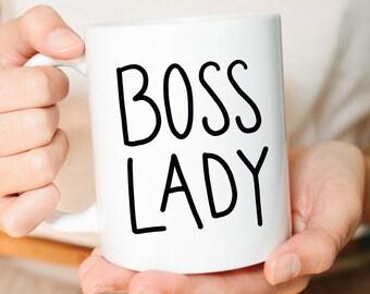 Boss lady, Boss Lady Mug, Mug, New Job Gift, Gift for Her, Best Friend Gift, Promotion Gift, Girl Boss, Birthday Gift, Coffee Mug, Cute mug
