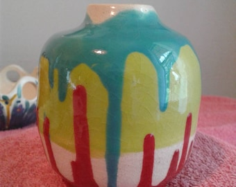 Crooked, colorful and cheerful little vase :)