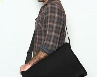 Black, Messenger Bag,Laptop bag,XL,Vegan bag - Dundee