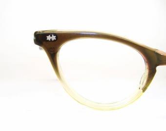 Vintage Cat Eye Glasses Eyeglasses Fades Sunglasses Frame