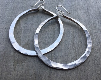 Sterling Silver Hoop Earrings / Silver Hoops / Sterling Earrings / Big Hoop Earrings / DanielleRoseBean / Large Hoops / Thick Hoop Earrings