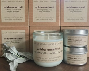 Wilderness Trail 10oz Candle in Recycled Glass