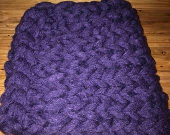 Merino Chunky Knit Baby Blanket