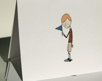 Bashful Boy Congratulations Card
