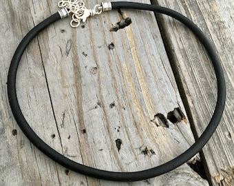 Leather Cord Necklaces Black Leather 5mm Wild Prairie Silver Jewelry Joy Kruse