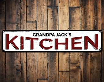 Kitchen Sign, Personalized Name Kitchen Decor, Metal Home Chef Sign, Custom Kitchen Sign, Culinary Sign - Quality Aluminum ENS1001441
