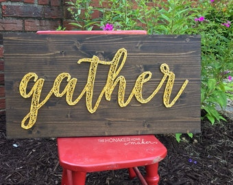 MADE TO ORDER Gather String Art Board