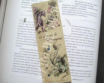 Bookmark dragon couple