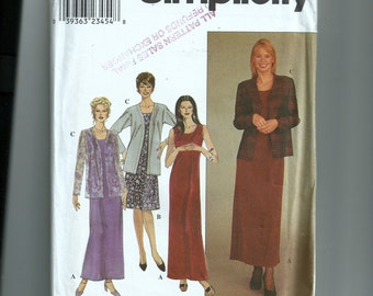 Simplicity Misses' /Miss Petite Dress and Jacket Pattern 8973