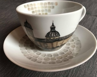 Cappuccino Cup, third fire, porcelain, collection, Viterbo