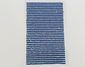 Plate 918 rhinestone stickers 2mm blue cabochon