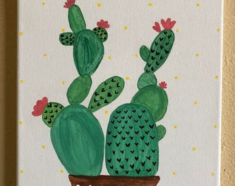 Cactus Canvas Painting