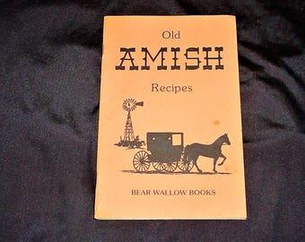 Vintage 80s Old Amish Recipes Cookbook Pamphlet
