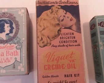 Vintage Advertising Cosmetic Boxes Ephemera Pharmaceutical
