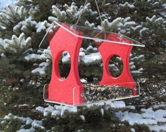 Nature Products USA Recycled Poly Lumber Hanging Birdfeeder Red 3030R