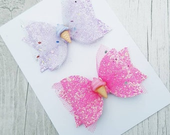 Pretty summer ice cream small bow set