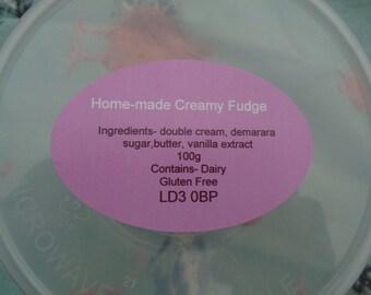 Home- Made Creamy Fudge