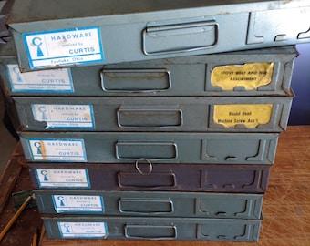 Steel Organizer Box 24 Compartments, Heavy Duty Metal Tray, Metal Hardware Drawer