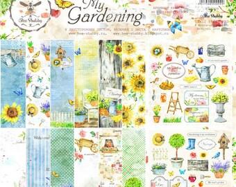Scrapbooking paper pad  30 cm \12x12 garden spring flowers