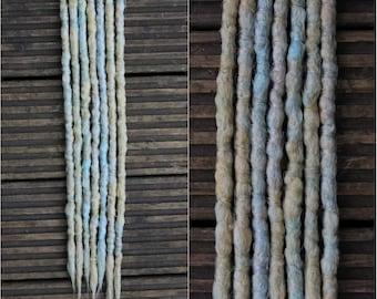 Breeze SE x7 Crochet Synthetic Dreads - blonde blue accent