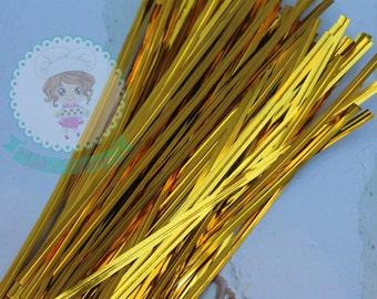 FAST Shipping!! Gold Metallic Twist Ties, 100 Twist Ties
