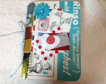 Vintage Junk Journal, A6 Size, Real Ephemera Cover, Pamphlet Style, TN #2