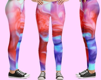 Leggings, yoga pants, leggings sport, legging women, workout pants, activewear, tye dye leggings