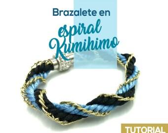 DIY Brazalete en Espiral Kumihimo Ebook PDF con Video Tutorial