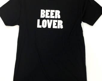 Beer Lover Black Unisex T-Shirt