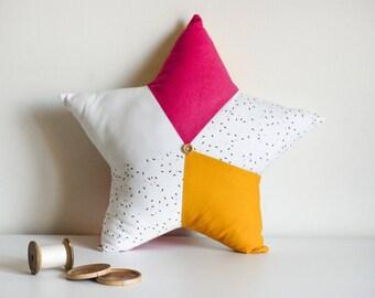 Hand stitched star cushion