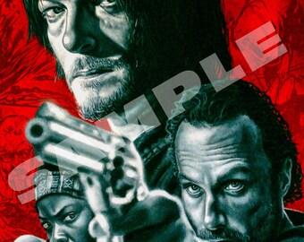 We Are the Walking Dead - Fan Art - Norman Reedus Original Artwork Download File