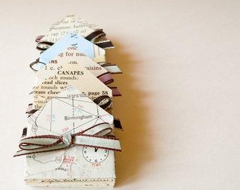 Miniature Envelopes handmade from vintage paper and ephemera - set of 12