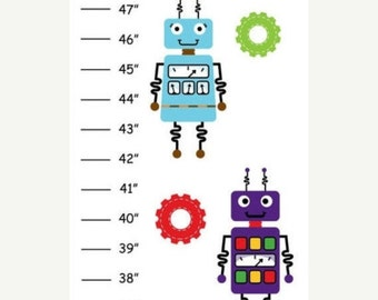 Personalized Robot Canvas Growth Chart