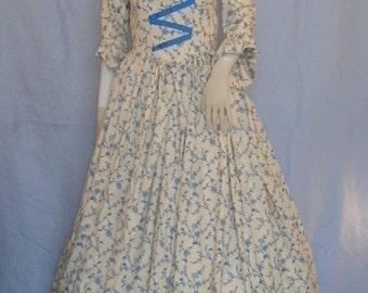 18th Century Historical Gown--- Custom Made To Order--- Colonial Gown, Modest Costume, Regency Gown, Historical Dress