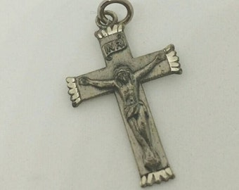 AFCO Sterling Crucifix Cross Pendant.  Vintage Marked and has bale.  Mulitple available