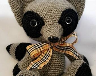 Crochet Stuffed Plush Raccoon Toy