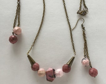 Pink and Brass Set