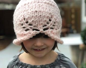 knit Hat pattern,Anna Hat Pattern, Knitting pattern