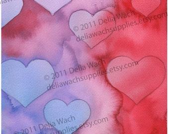 Heart Splash- Reds - Digital Elements of Collage Sheet - Printable PDF