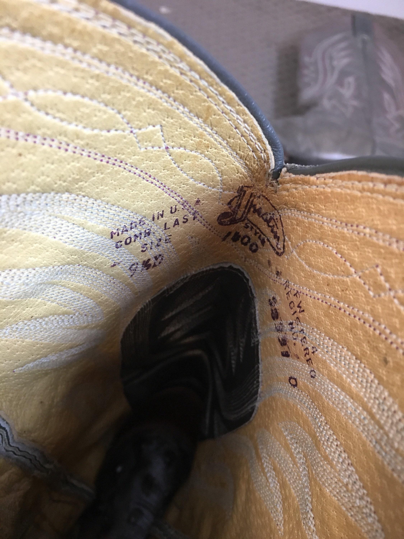 Wo  gris bottes de cow-boy  botte Western Justin Justin Justin dames  Vintage gris Cowboy Boot taille 9,5 a06a47