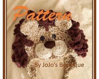 PDF Baby Lion Hat PATTERN - Baby Lion Hat - Crochet Pattern -  Soft Newborn Lion Hat Tutorial  - Crochet Newborn Hat -  by JoJosBootique