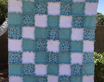 Child Rag Quilt - Baby Rag Quilt - Flannel Rag Quilt - Hello Kitty Rag Quilt - Baby Shower Gift - Newborn Baby Gift - Baby Gift - Blanket