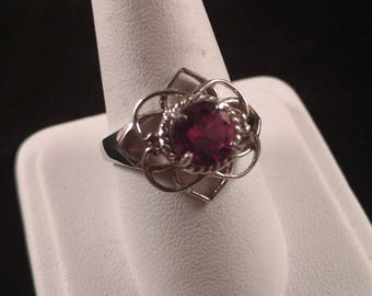 Amethyst on Sterling Silver Ring