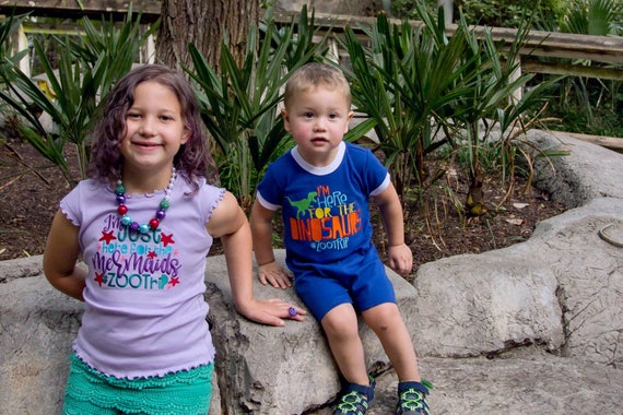 Boys Zoo Shirt - Kids Zoo Shirt - Zoo Trip Shirt - Dinosaurs at the Zoo - Boys Summer Shirt - Kids Summer Shirt -