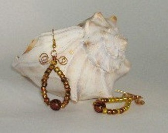 Gold and Copper Earrings