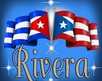 """Two USA Unity Flags Vinyl Square Decals 12"""" Cuba And Puerto Rico One Blue And 1 Dark Blue"""