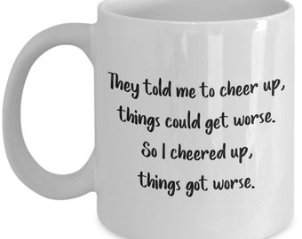 Sarcastic Sunshine Mug - Sarcastic Coffee Cups- Funny Tea Hot Cocoa Cup - Novelty Birthday Christmas Gag Gifts Idea